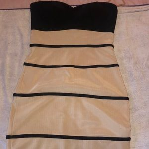 Foreign Exchange Dresses - Black and nude dress